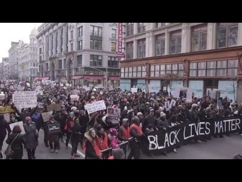 LIVE: NYC rally marks first anniversary of Mike Brown's killing