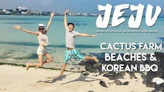 🍊JEJU ISLAND VLOG 🌴 Cactus Farm, Beaches & Korean BBQ 국제커플 제주도 여행 해변 파트 1 (자막 CC)