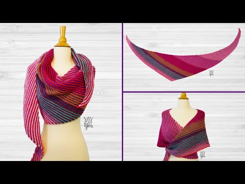 How To Knit A Double Gradient Boomerang Shawl Free Knitting