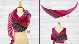 How to Knit a Double Gradient Boomerang Shawl - Free Knitting Pattern by Yay For Yarn