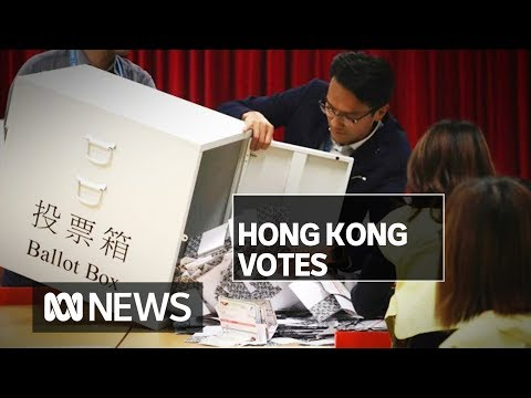Hong Kong Voters Dramatically Swing To Pro-democracy Candidates | ABC News