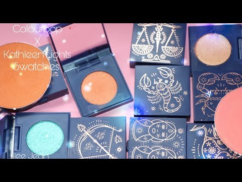 NEW Colourpop X KathleenLights Zodiac Pressed Eyeshadow + Pressed Blush Swatches | Lillee Jean thumbnail