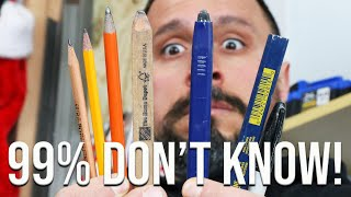 CARPENTER PENCIL TIPS AND TRICKS 99% OF PEOPLE DON'T KNOW!
