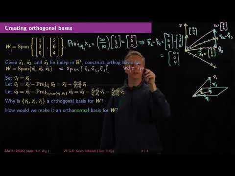 Gram-Schmidt Orthogonalization - Linear Algebra - G6