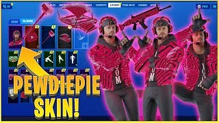 *NEW* Fortnite Pewdiepie custom skin set (Including Pickaxe, Glider, Wrap, etc.) | Mighty Games