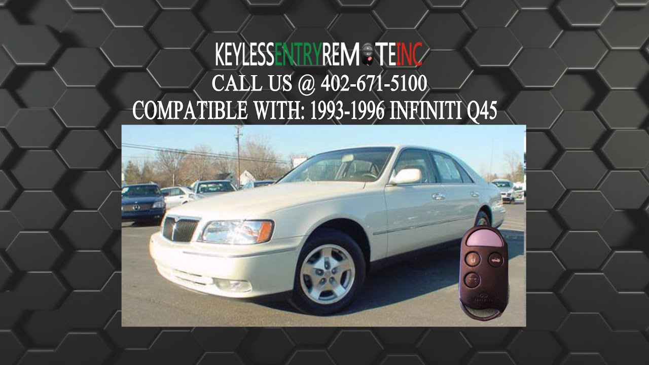 How To Replace Infiniti Q45 Key Fob Battery 1993 1994 1995