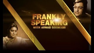 Frankly Speaking with Smriti Irani - Full Interview