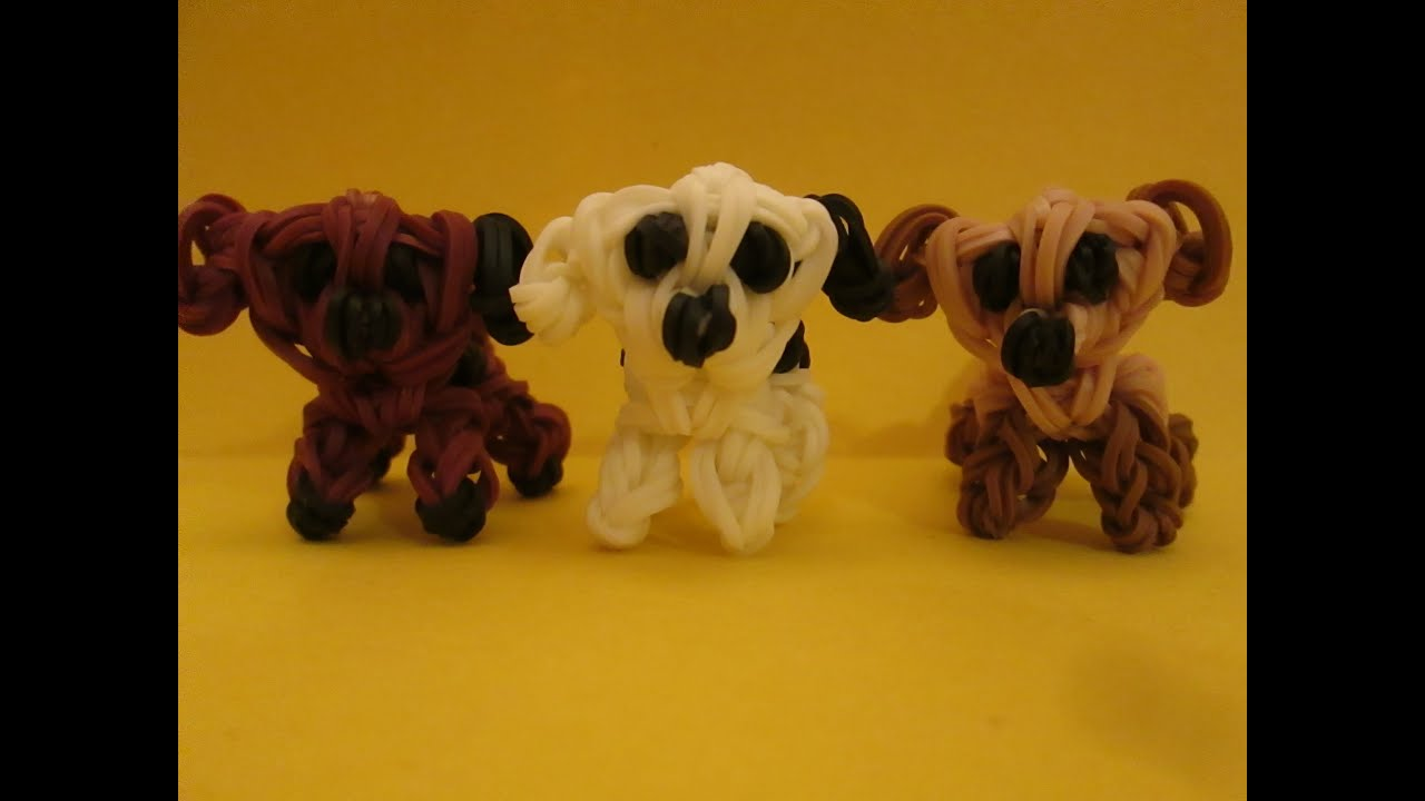 rainbow loom mixed breed puppy and dog charm 3 d easy funnydog tv. Black Bedroom Furniture Sets. Home Design Ideas