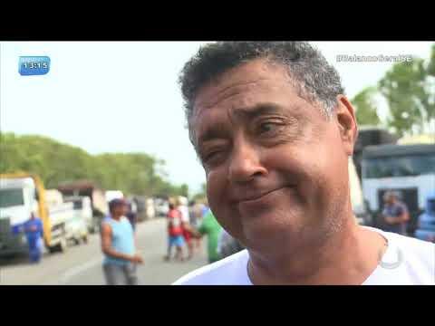 Protesto: Caminhoneiros fecham entrada do Porto de Sergipe - BGS