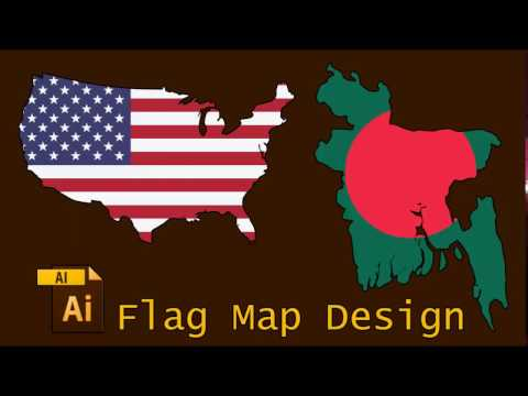 Flag Map design by Adobe Illustrator (Bangla) | Adobe Illustrator Tutorial - 5