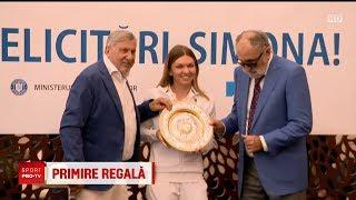 Simona Halep Felicitata de Ion Tiriac si ilie Nastase