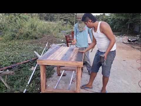Primitive-Furniture by Khmer wood, Build Chair and Table-Primitive.