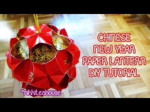 Diy Chinese New Year Paper Lantern Youtube