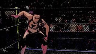 WWE 2K19 shayna bazsler v rowdy ronda rousey cage match