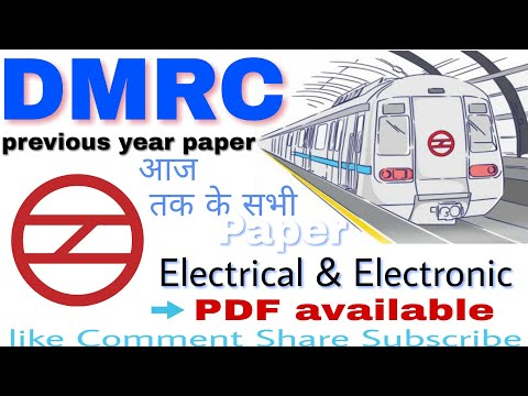 DMRC Maintainer (electrician) old Questions
