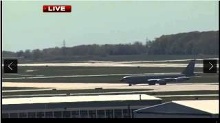 Emergency landing 128th ARW KC-135 at Mitchell International