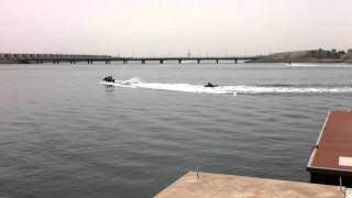 Durrat Al Bahrain Jet Ski Races, great noise, stink and totally no class