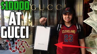SPENDING $10,000 DOLLARS AT THE GUCCI STORE! | $10000 GUCCI STORE CHALLENGE (FIRST TIME AT GUCCI)