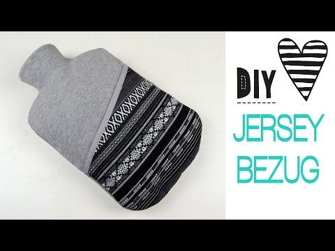 DIY ♥ Hülle / Bezug für Wärmflasche nähen – Wärmflaschenhülle selbst machen