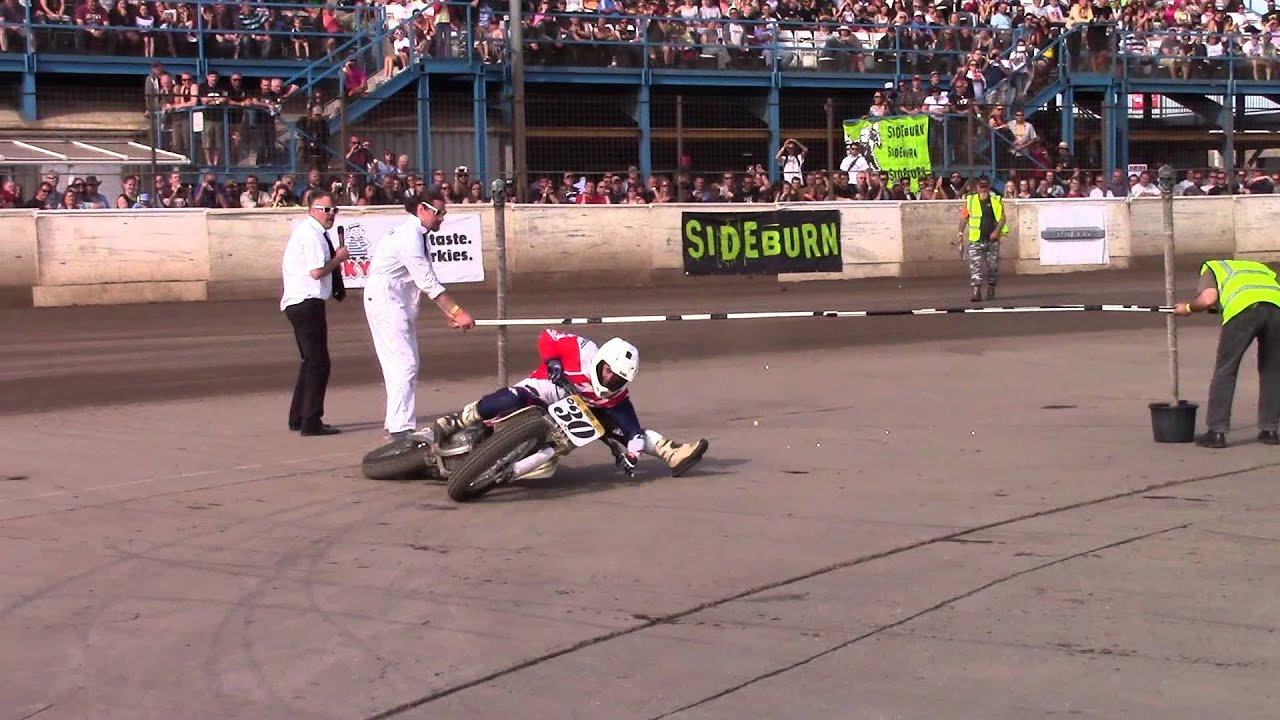 Motorcycle Limbo - Alan Birtwistle Scrubs the Handlebar at Dirt Quake 4 2015