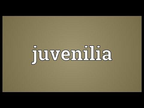 Header of juvenilia
