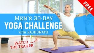 Join the free men's 30 day yoga challenge
