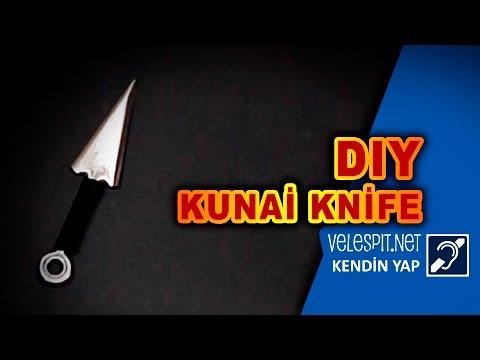 Diy Kunai Throwing Kinfe   How to Make a Steel Kunai Rope Dart