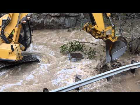 Boulder Colorado Floods 2013 Help has arrived!  4 mile canyon pt3