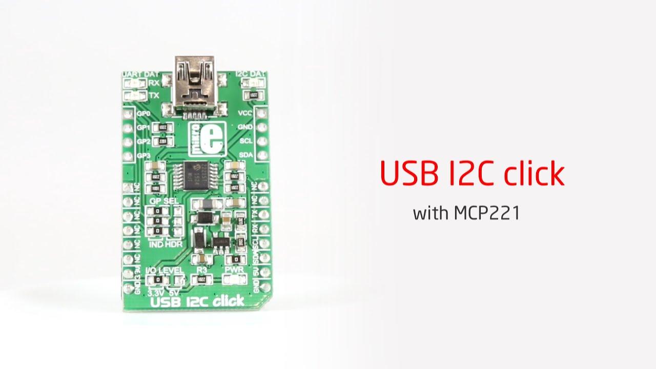 USB I2C click - Example