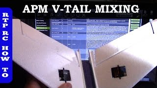 Ardupilot V-Tail Mixing Setup in APM Mission Planner, XUAV Mini Talon VTail Plane Part 8