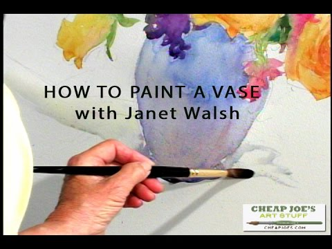 How To Paint A Vase With Janet Walsh Youtube