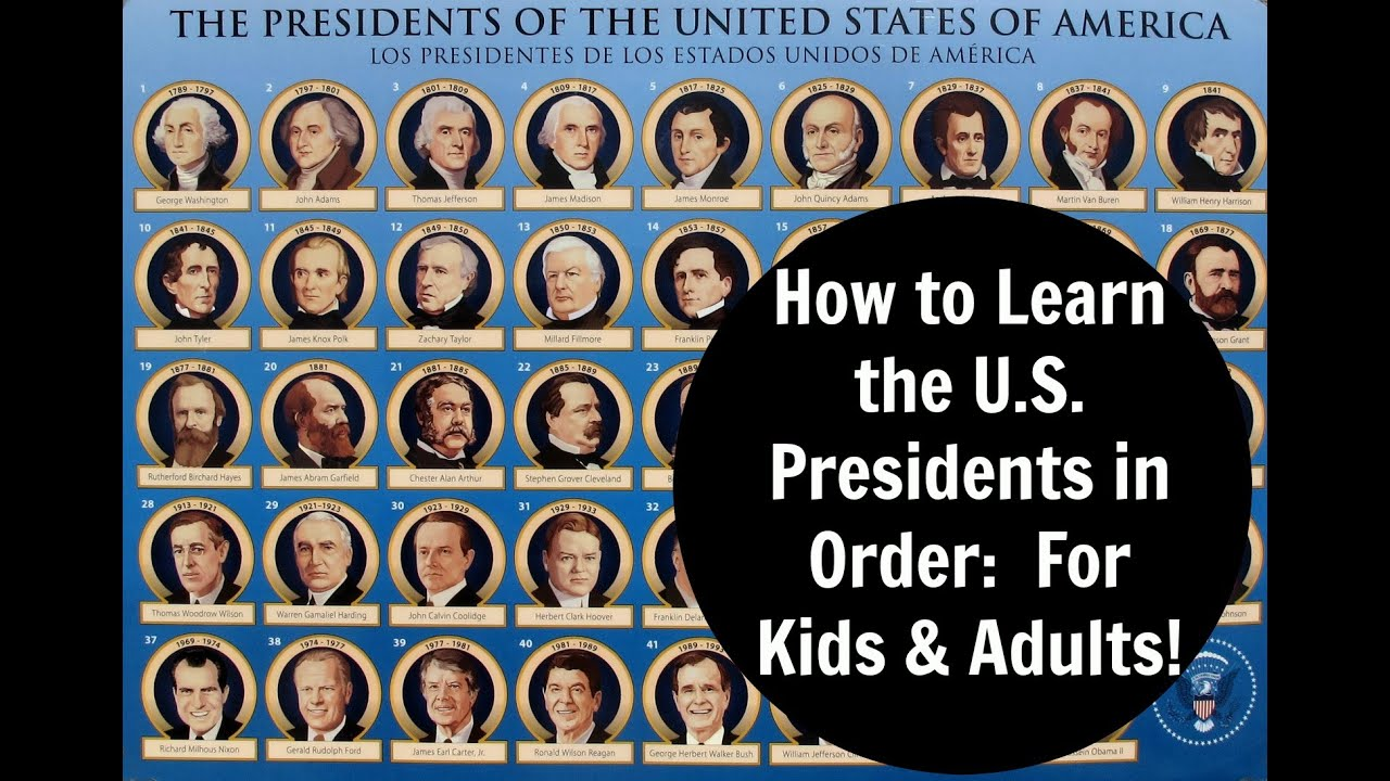 How To Learn The United States Presidents In Order For Kids S You
