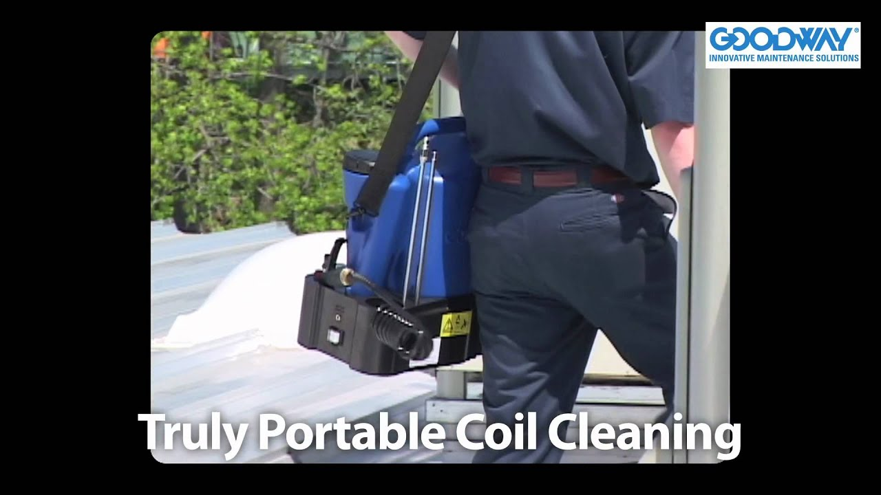 Goodway cc jr portable coil cleaning system youtube sciox Images