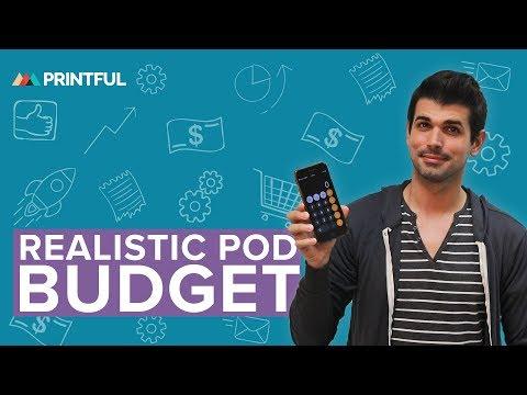 REALISTIC Print-On-Demand Startup Budget 2019 thumbnail