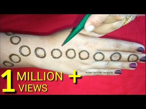 Cap  की मदद से आसान सुंदर मेहंदी लगाना सीखें * Jewellery Mehndi Design | Mehndi Designs | Mehndi