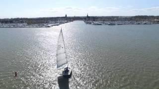 Fine Fleur X-yachts drone beelden vaart Monnickendam binnen