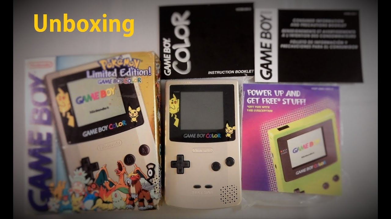 Pokemon games for gameboy color - Unboxing Gameboy Color Pokemon Limited Edition