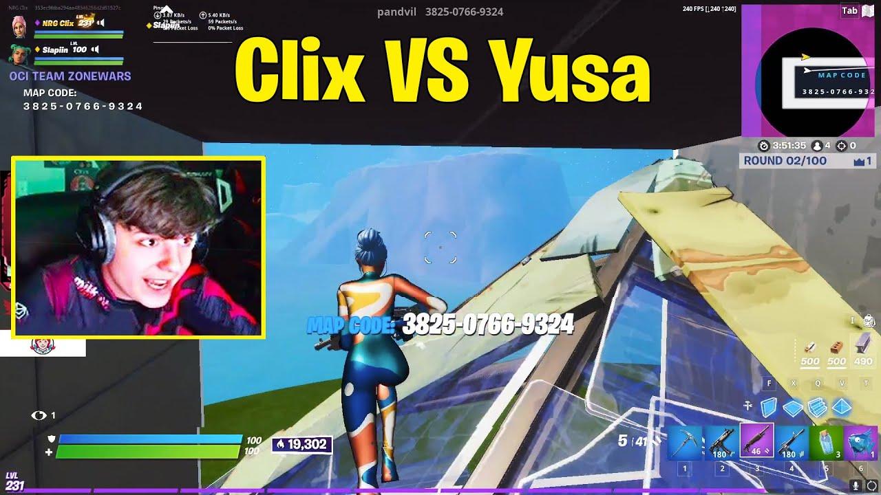 Clix and Slapiin VS Yusa and Okis 2v2 Zone Wars Wagers! - Fortnite 2v2