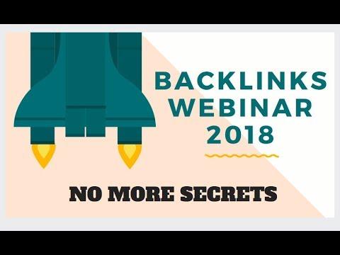 A-Z Backlinks Webinar 2018 | Website Ranking Secrets Revealed