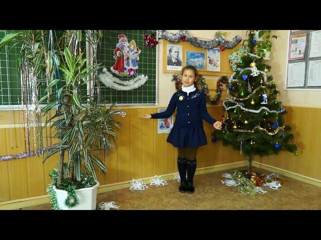 Изображение предпросмотра прочтения – СофияИваненко читает произведение «Снежок» Ф.И.Тютчева