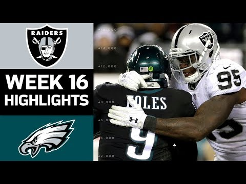 Raiders vs. Eagles | NFL Week 16 Game Highlights