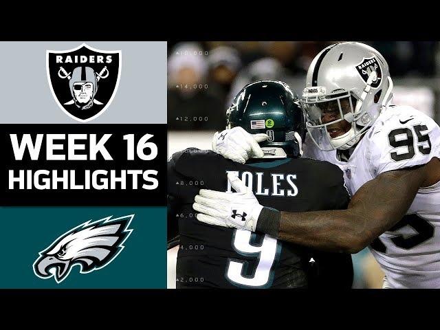 Raiders vs. Eagles | NFL Week 16 Game Highlights