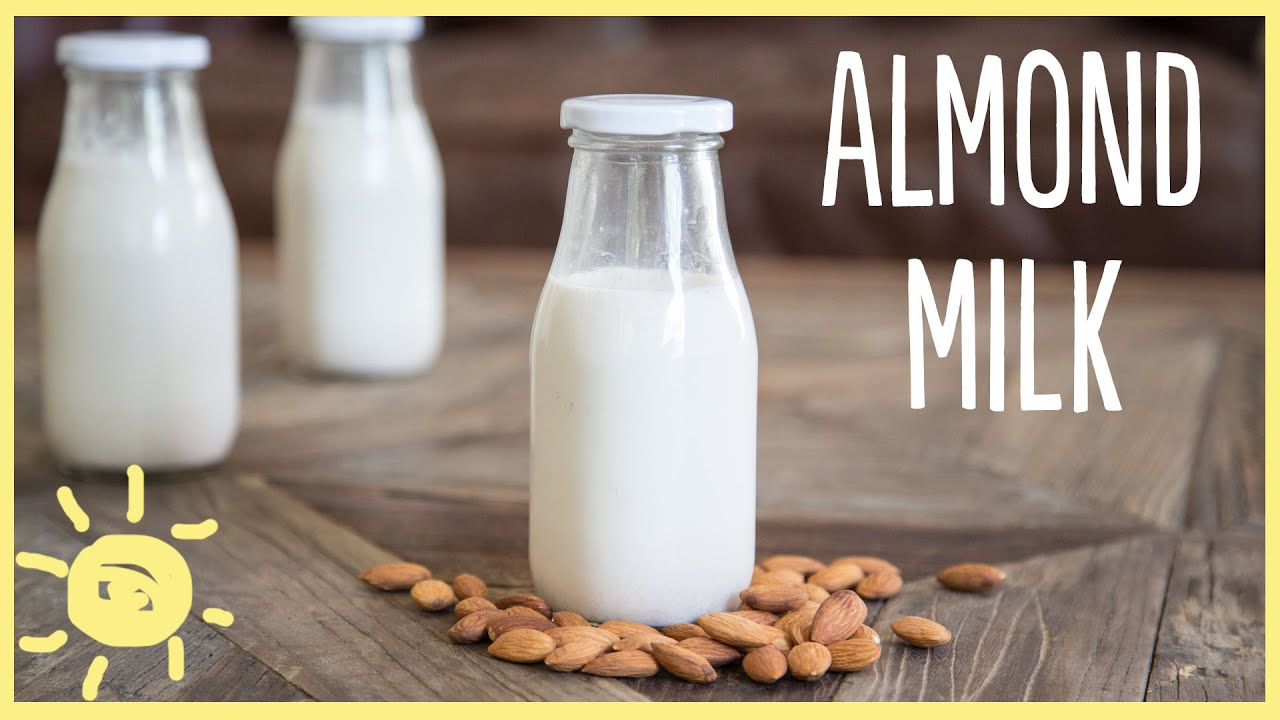 eat homemade almond milk in 3 easy steps youtube. Black Bedroom Furniture Sets. Home Design Ideas