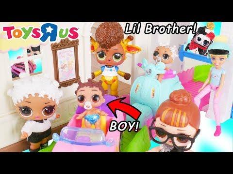 LOL Surprise Doll Fresh Gets New Lil Brother Punk Boi Boy + Custom Toys R US Toy Barbie Surprises