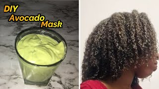 DIY Avocado Aloe Vera Deep Conditioner Hair Mask Treatment for Rapid Hair Growth and Damaged Hair