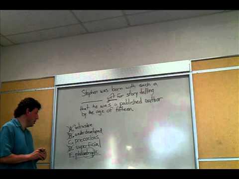 New Jersey SAT tutor explains sentence completion.