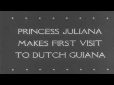 WO2: 'Prinses Juliana bezoekt Suriname (Nederlands-Guiana)', een bioscoopjournaal uit 1943