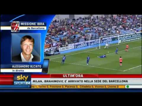 Zlatan Ibrahimovic al Milan - Sky Sport 24 - 28-08-2010 - Pt. 1
