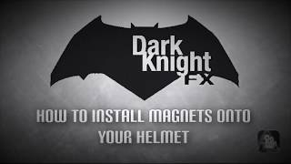 How to add / install magnets to your cosplay helmet and armor