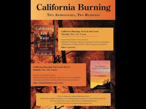CALIFORNIA FIRE & WATER Book Launch - A Climate Crisis Anthology of Poems Edited by Molly Fisk